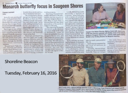 bgoss-donation-shoreline-beacon-newspaper-feb-2016