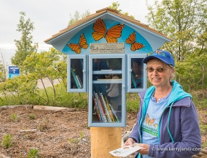 Barb standing in front of the Nature Library